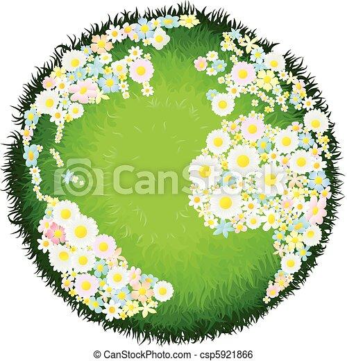 Floral flower globe concept - csp5921866