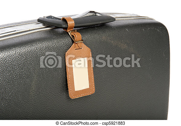 Close-up of an old suitcase - csp5921883
