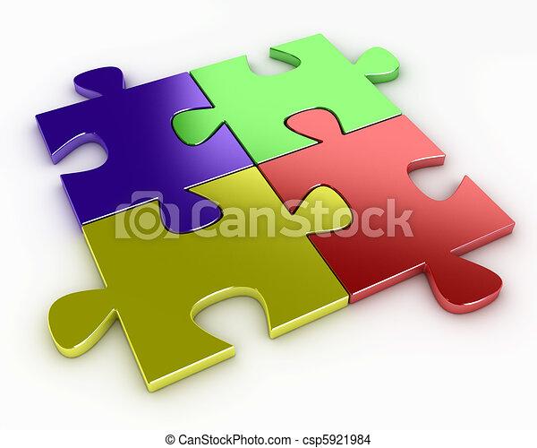 Four puzzle pieces - csp5921984