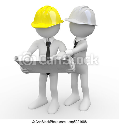 Stock Illustration Of Architects Chief Architect Looking