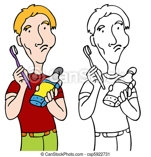 Rinsing with Mouthwash - csp5922731