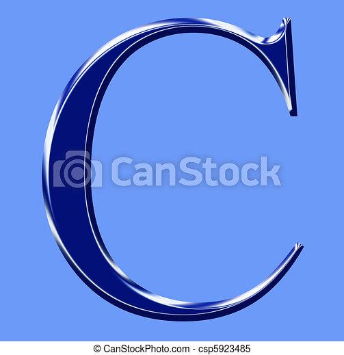 C - blue alphabet symbol       - csp5923485