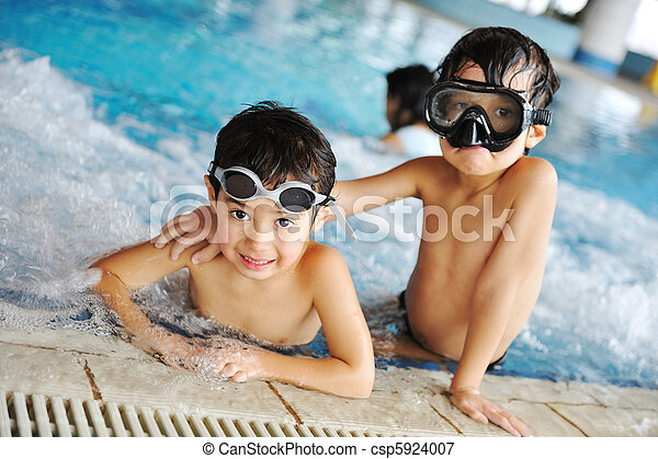Children at pool, happiness and joy, preparing for the summer! - csp5924007