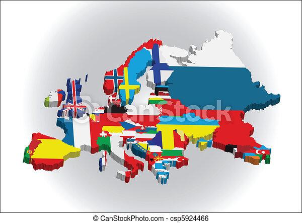 European 3D map - csp5924466
