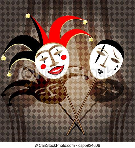 two masks clown - csp5924606