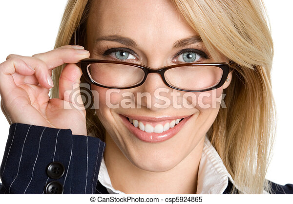 Woman Wearing Glasses - csp5924865