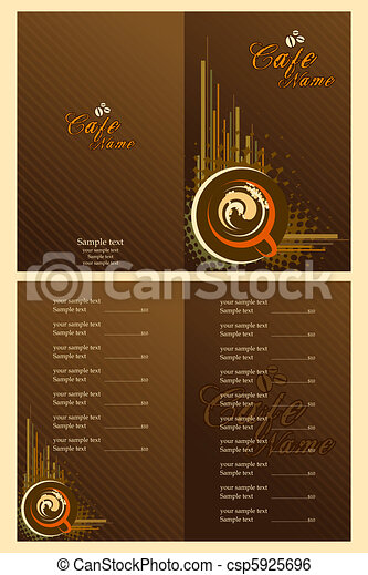 Cafe Menu Card Template - csp5925696
