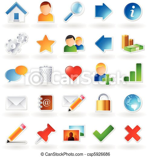 Colored icons - csp5926686