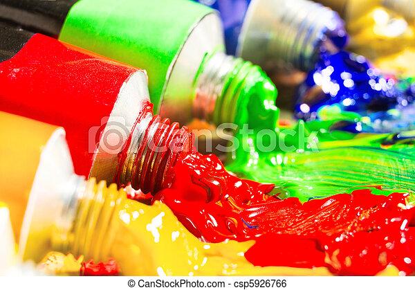 multicolor, tubos, Pintura - csp5926766