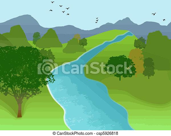 Summer landscape - csp5926818
