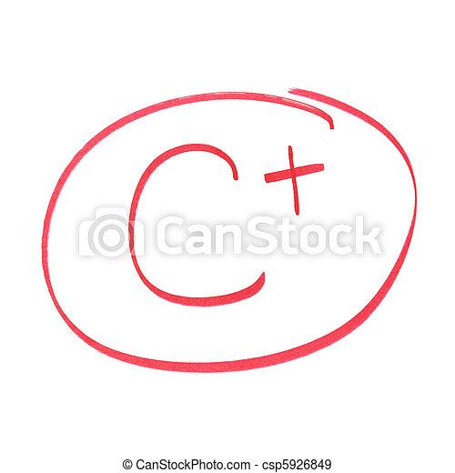 c+ grade  Stock Photo - C