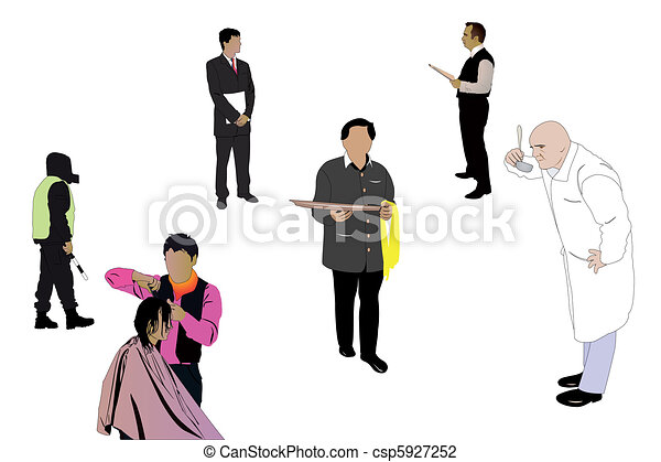 specialists of different professions - csp5927252