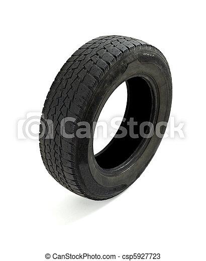 car used tire transportation - csp5927723