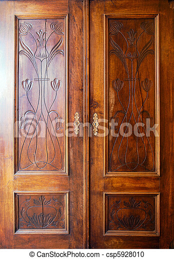 photographies de bois placard portes details de une vieux placard csp5928010. Black Bedroom Furniture Sets. Home Design Ideas