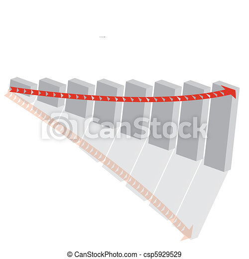 growth bar graph in 3d gray - csp5929529