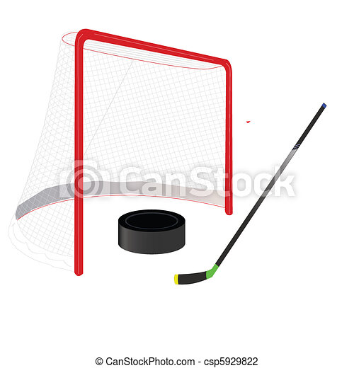hockey goal - csp5929822