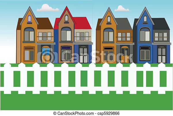 Clip art vecteur de maison urbain ville csp5929866 for Vert urbain maison de ville