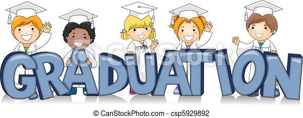 Graduating Kids - csp5929892