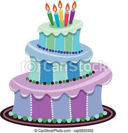 big birthday cake - csp5930302