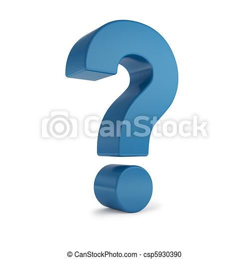 blue 3d question mark - csp5930390