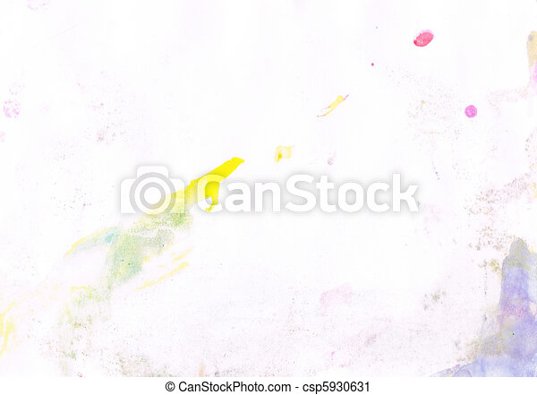 Beautiful watercolor background in soft yellow, purple and pink - csp5930631