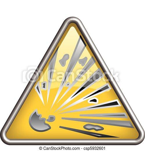 Explosion  icon, symbol - csp5932601