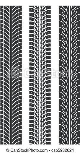 repeating tire tracks - csp5932624