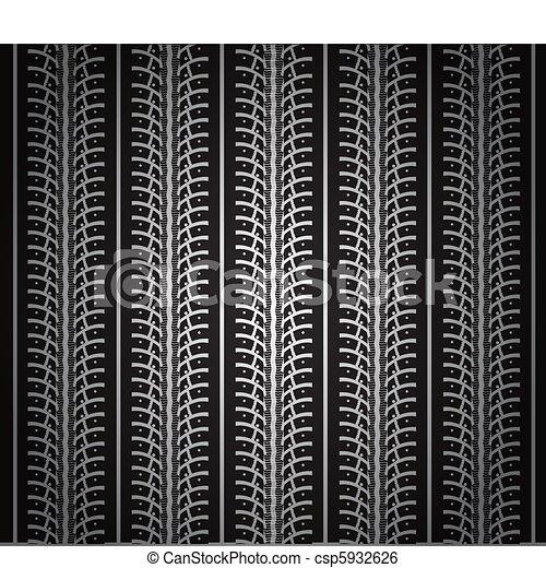 repeating tire tracks - csp5932626