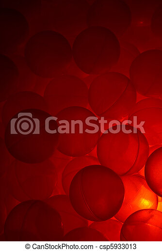 Ball pool with red light. - csp5933013