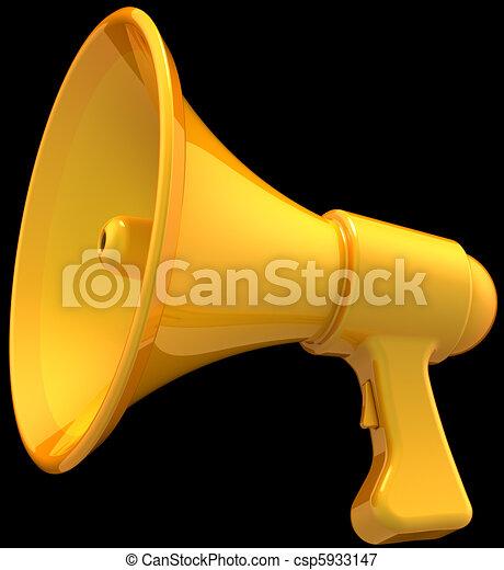 Megaphone total yellow on black - csp5933147