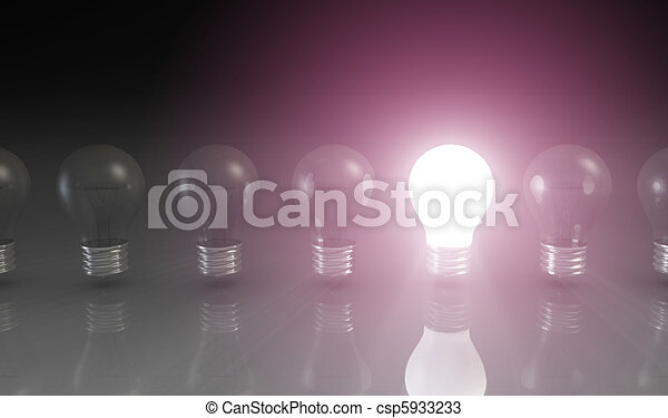 Creativity Concept with Light Bulb - csp5933233