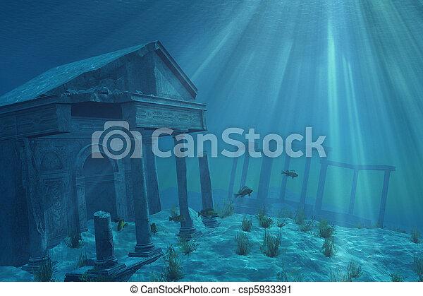 Undersea Ruins - csp5933391