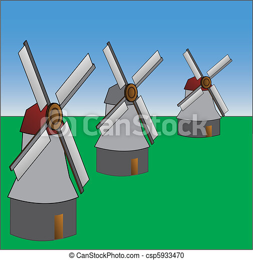 old fashioned windmill - csp5933470