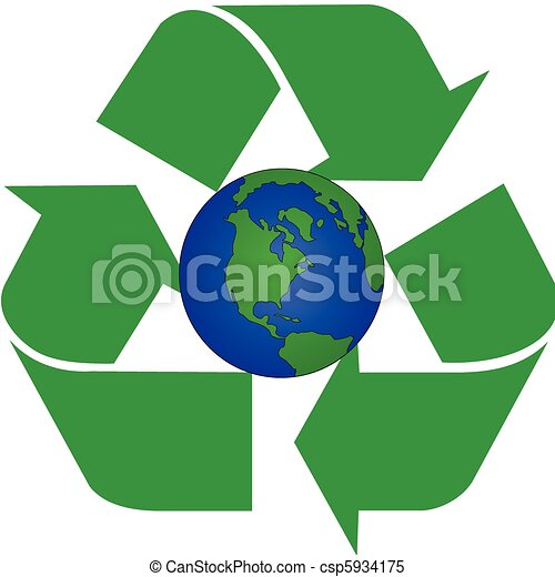 Clipart Vector of alias of recycling earth - alias of recycle ...