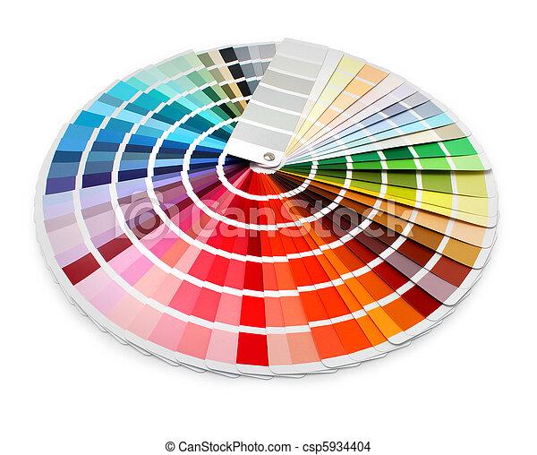 Designer color chart spectrum - csp5934404