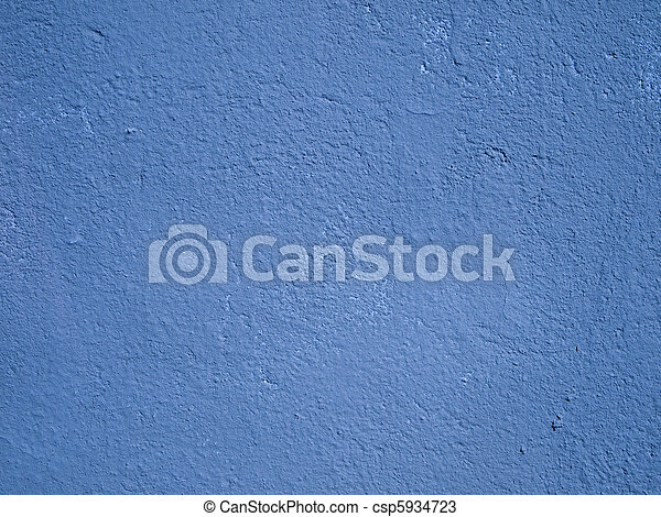 Blue cement wall - csp5934723