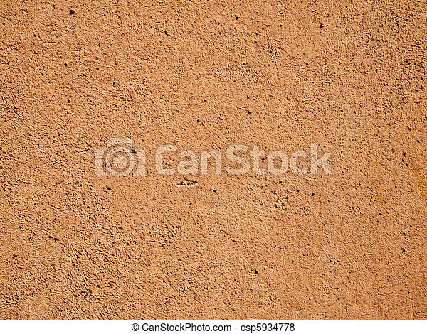 Orange cement wall - csp5934778