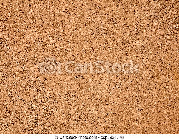 Orange cement wall - csp5934778