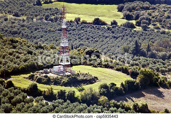 Mobile network's telecommunications tower - csp5935443