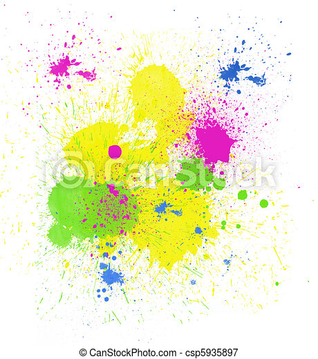 Bright Paint Spatter - csp5935897