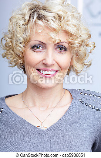 Pretty Middle-Aged Blonde Woman