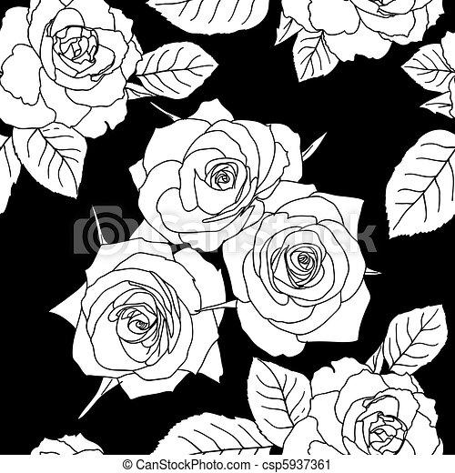 clip art vecteur de seamless papier peint rose fleurs csp5937361 recherchez des images. Black Bedroom Furniture Sets. Home Design Ideas