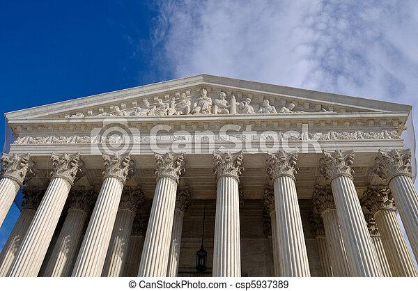 edificio, supremo, tribunal,  Washington, CC, nosotros - csp5937389