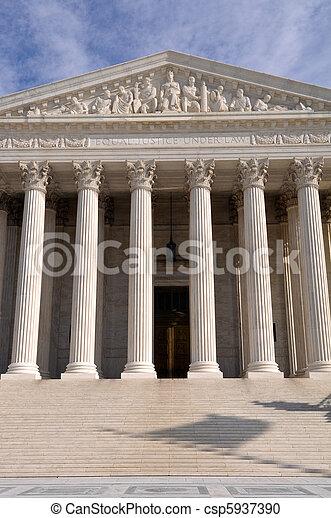 US Supreme Court Building in Washington DC - csp5937390