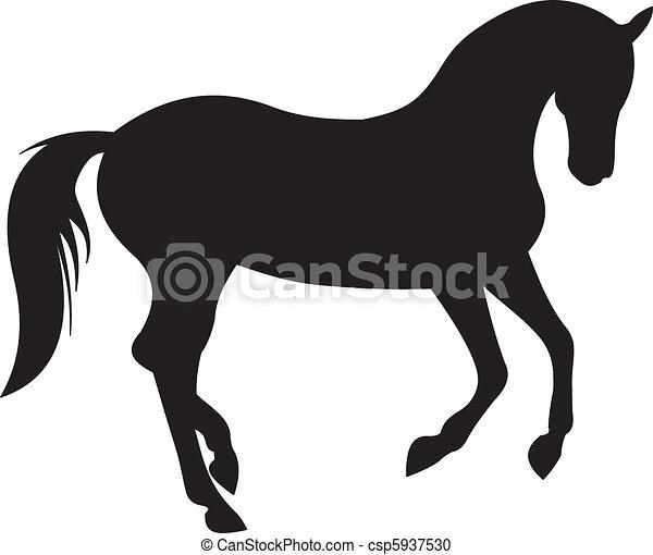 Clipart vecteur de cheval vecteur silhouette cheval silhouette isol csp5937530 - Clipart cheval ...