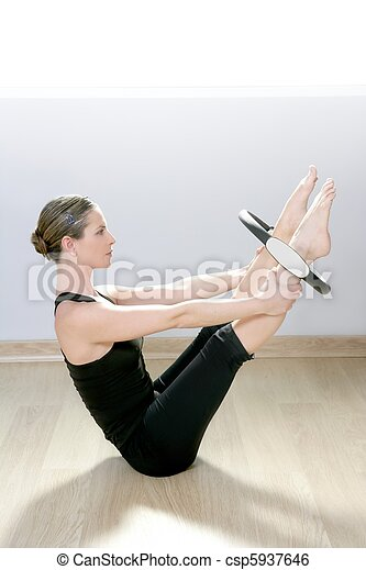 magic pilates ring woman aerobics sport gym - csp5937646