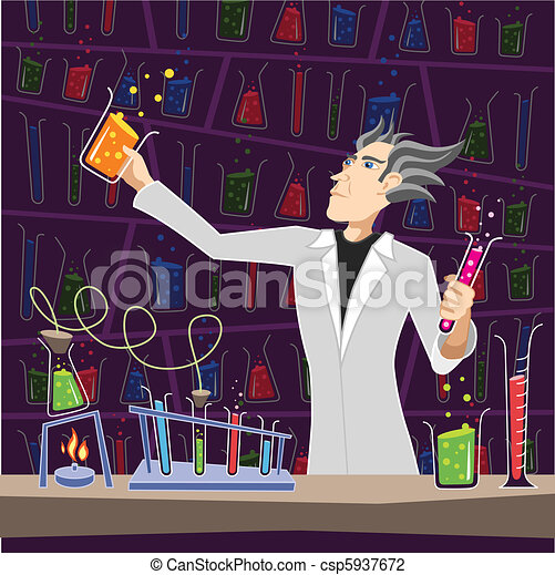 Scientist with Chemistry Equipment - csp5937672