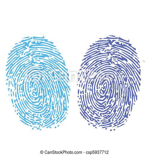 comparison of thumbprint - csp5937712