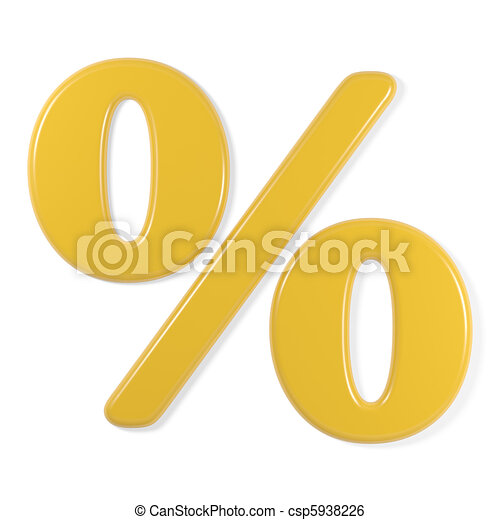 yellow font - percentage symbol - csp5938226
