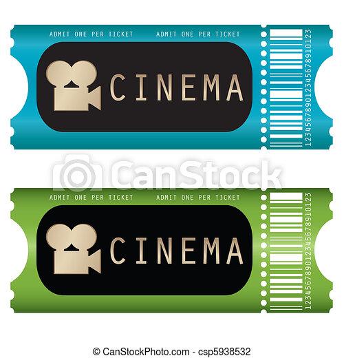 movie ticket  - csp5938532